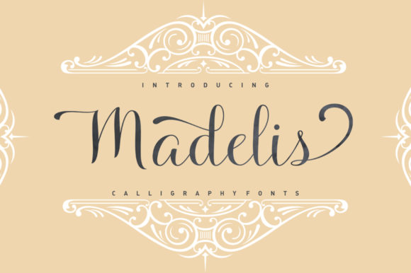 Madelis Script Script & Handwritten Font By Stripes Studio