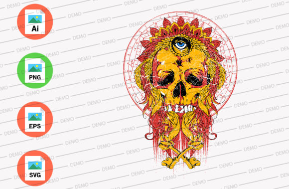 Magic Skull Graphic Illustrations By Skull and Rose