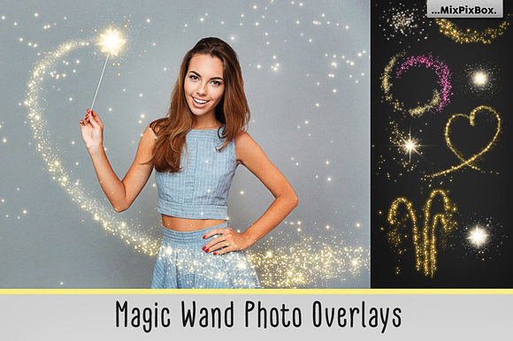 Print on Demand: Magic Wand Overlays Graphic Layer Styles By MixPixBox