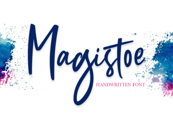 Print on Demand: Magistoe Script Script & Handwritten Font By masinong
