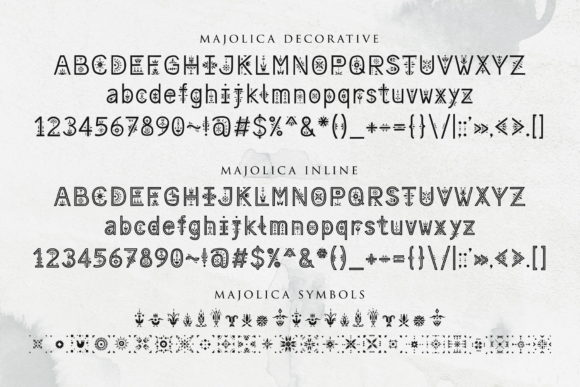 Print on Demand: Majolica Display Font By struvictory - Image 3