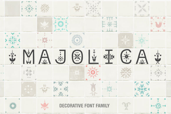 Print on Demand: Majolica Display Font By struvictory