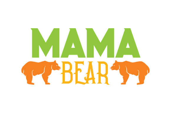 Print on Demand: Mama Bear Quote SVG Cut Graphic Crafts By TheLucky