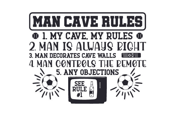 Download Free Man Cave Rules Svg Cut File By Creative Fabrica Crafts for Cricut Explore, Silhouette and other cutting machines.