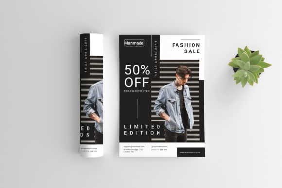 Man Made - Fashion Flyer Graphic Print Templates By irfanfirdaus19 - Image 2
