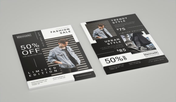 Man Made - Fashion Flyer Graphic Print Templates By irfanfirdaus19 - Image 3