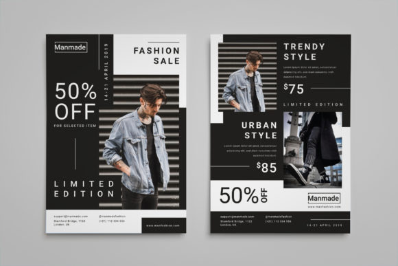 Man Made - Fashion Flyer Graphic Print Templates By irfanfirdaus19 - Image 4