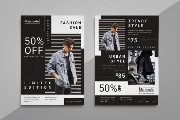 Man Made - Fashion Flyer Graphic Print Templates By irfanfirdaus19 - Image 1