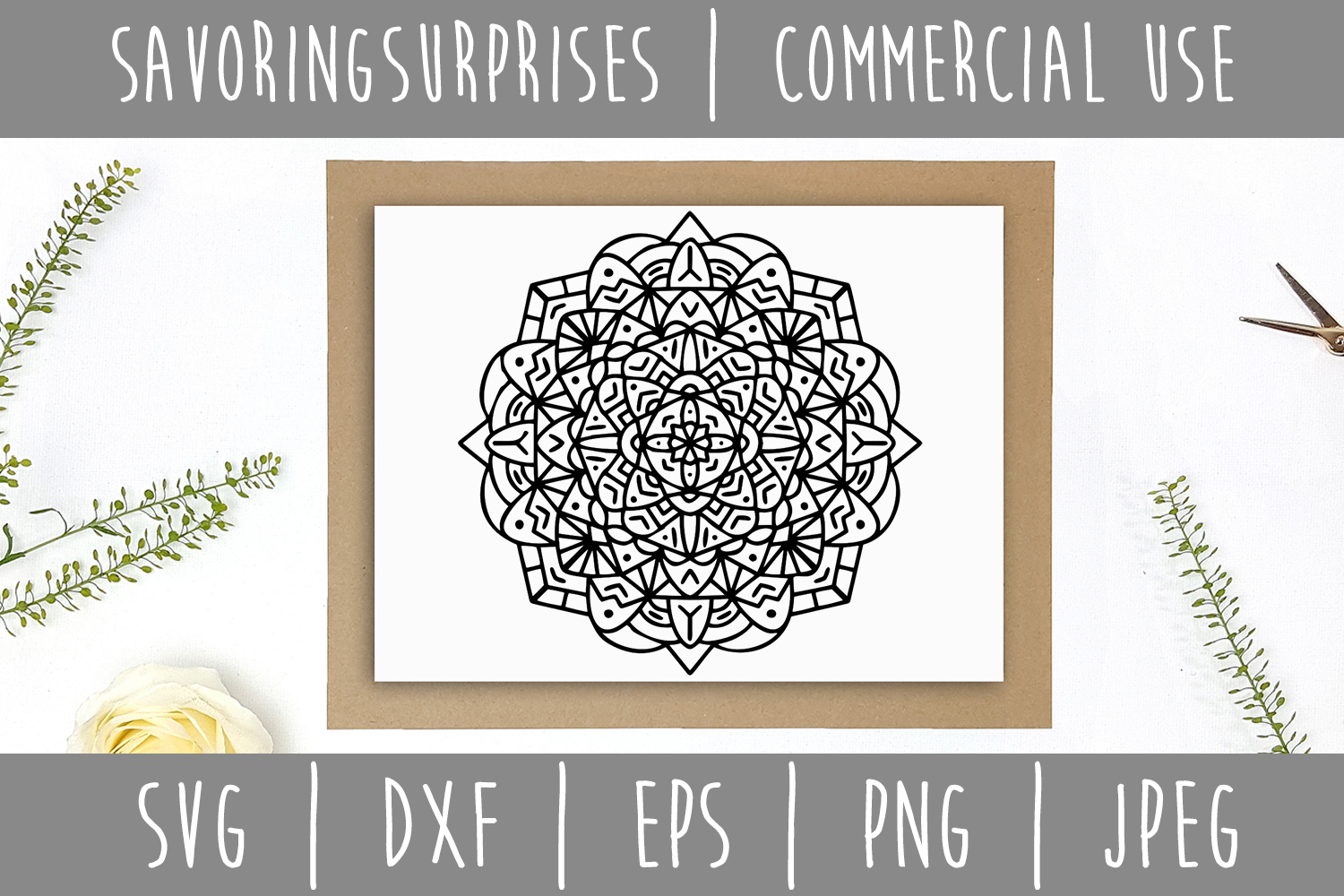 Download Free Mandala Graphic By Savoringsurprises Creative Fabrica for Cricut Explore, Silhouette and other cutting machines.
