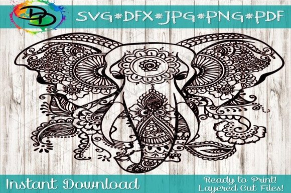 Download Free Mandala Svg Elephant Svg Graphic By Dynamicdimensions Creative for Cricut Explore, Silhouette and other cutting machines.