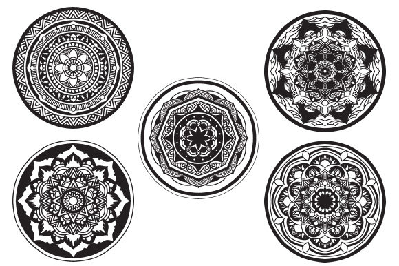 Download Free Mandala Pack Vector Illustration Concept Graphic By for Cricut Explore, Silhouette and other cutting machines.