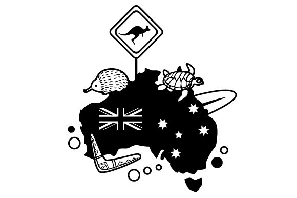 Download Free Map Of Australia Svg Cut File By Creative Fabrica Crafts SVG Cut Files