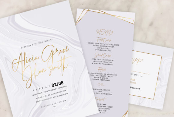 Marble Wedding Invitations Graphic By artisssticcc Image 11