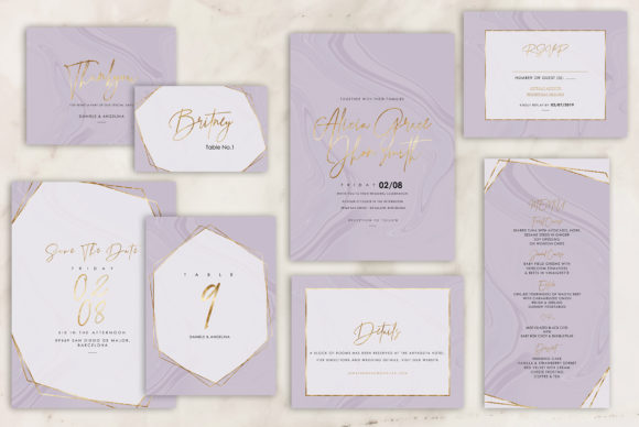 Marble Wedding Invitations Graphic By artisssticcc Image 12