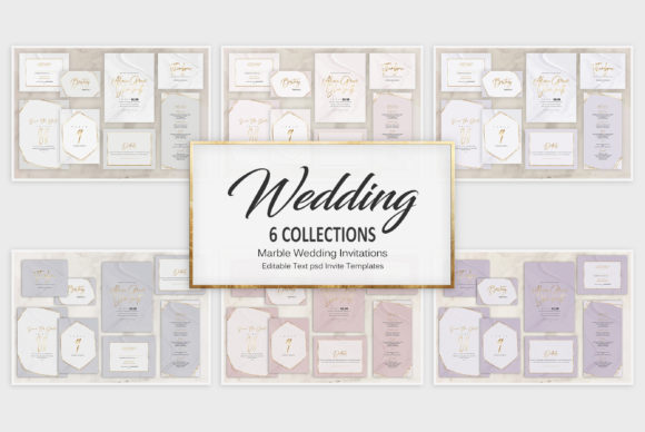 Marble Wedding Invitations Graphic Graphic Templates By Creative Paper