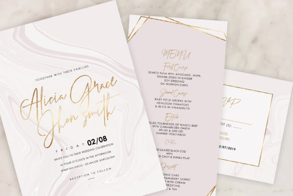 Marble Wedding Invitations Graphic By artisssticcc Image 7