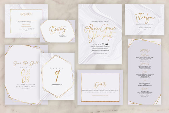 Marble Wedding Invitations Graphic By artisssticcc Image 10