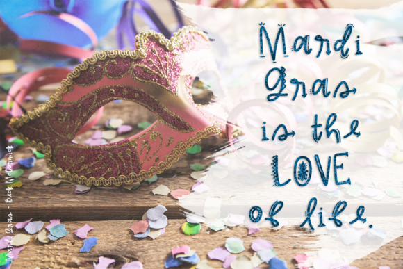 Print on Demand: Mardi Gras Decorative Font By BeckMcCormick - Image 3