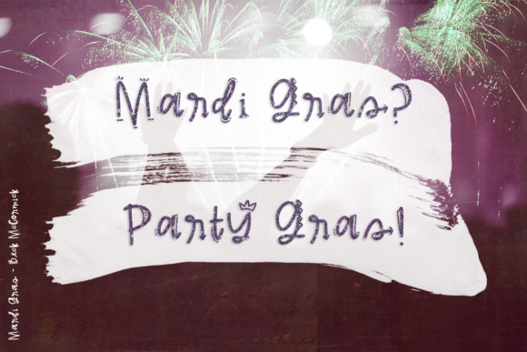 Print on Demand: Mardi Gras Decorative Font By BeckMcCormick - Image 5