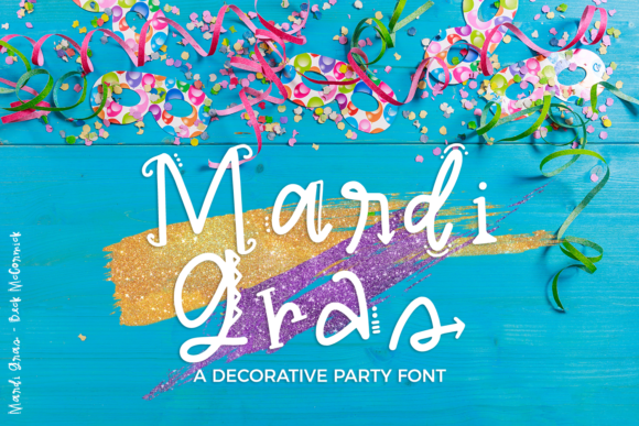 Print on Demand: Mardi Gras Decorative Font By BeckMcCormick