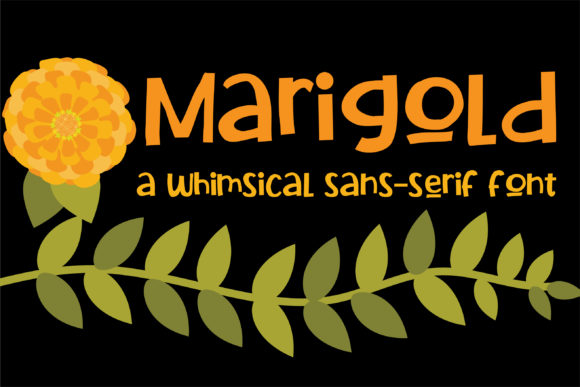 Print on Demand: Marigold Sans Serif Font By Illustration Ink