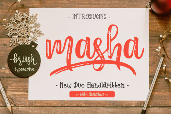 Print on Demand: Masha Duo Script & Handwritten Font By Haksen