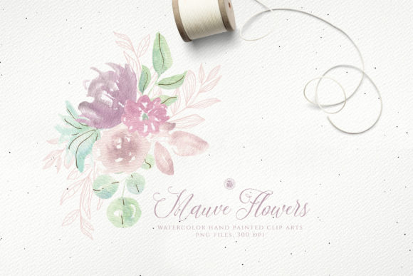 Print on Demand: Mauve Flowers Graphic Illustrations By webvilla - Image 2
