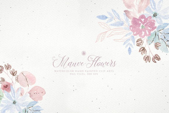 Print on Demand: Mauve Flowers Graphic Illustrations By webvilla - Image 3