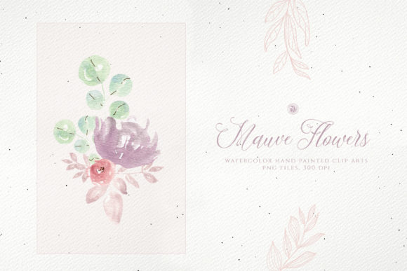 Print on Demand: Mauve Flowers Graphic Illustrations By webvilla - Image 4