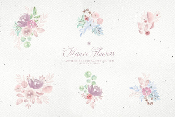 Print on Demand: Mauve Flowers Graphic Illustrations By webvilla - Image 5