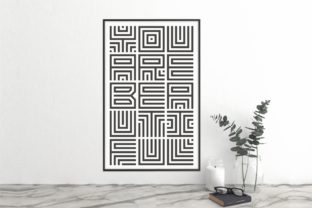 Print on Demand: Maze Line Display Font By putracetol 3
