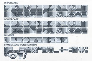 Print on Demand: Maze Line Display Font By putracetol 7