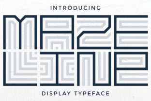Print on Demand: Maze Line Display Font By putracetol 9