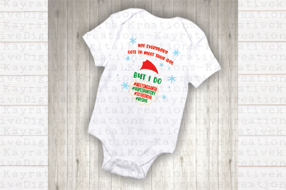 Download Free Meeting Santa Svg Kids Christmas Shirt Graphic By Kayla Griffin for Cricut Explore, Silhouette and other cutting machines.