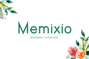 Print on Demand: Memixio Display Font By Shattered Notion