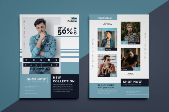 Men Fashion Flyer Graphic Design