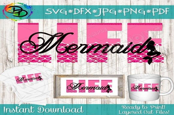 Print on Demand: Mermaid Life SVG Graphic Crafts By dynamicdimensions