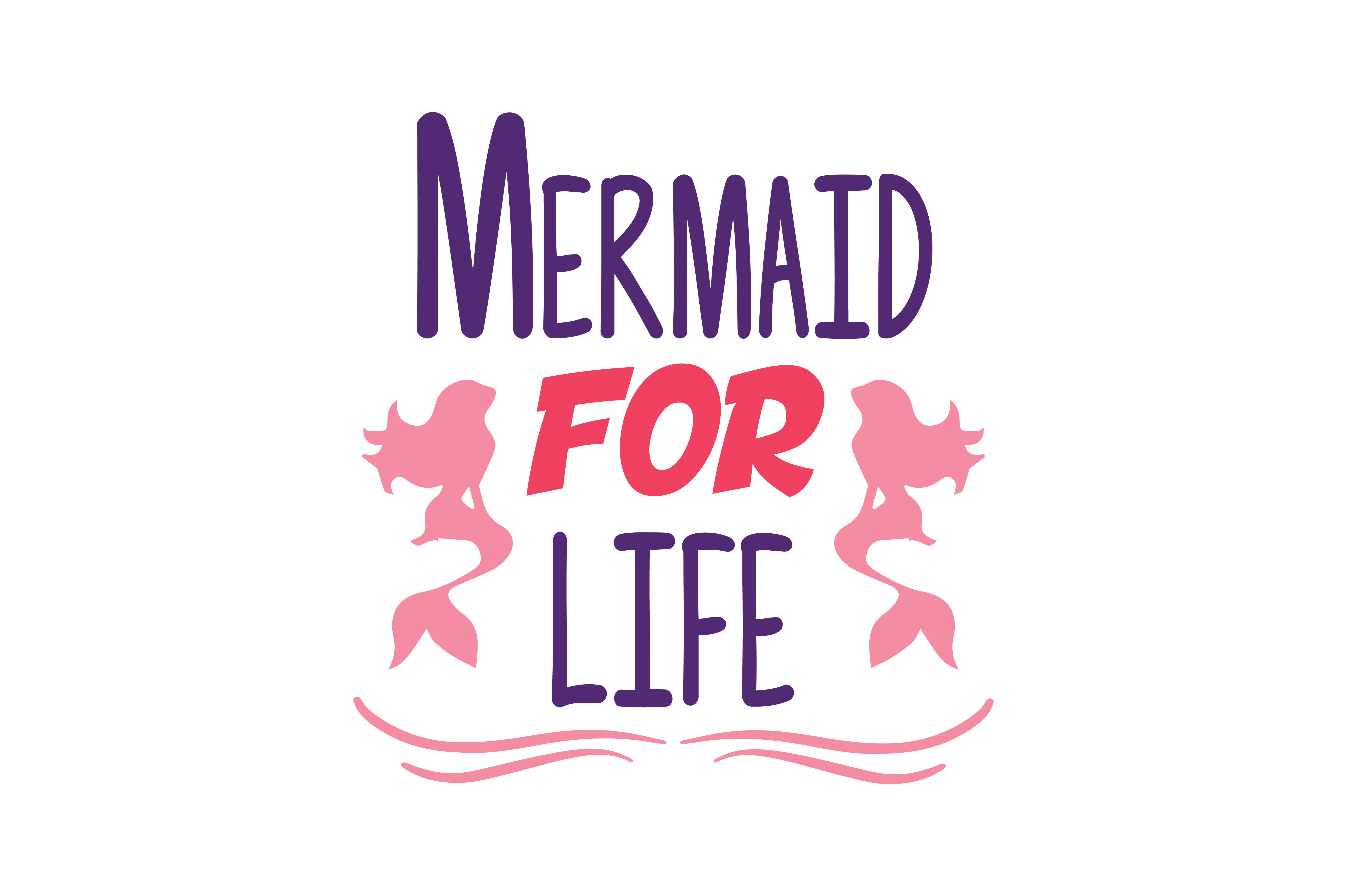 Download Free Mermaid For Life Quote Svg Cut Graphic By Thelucky Creative for Cricut Explore, Silhouette and other cutting machines.