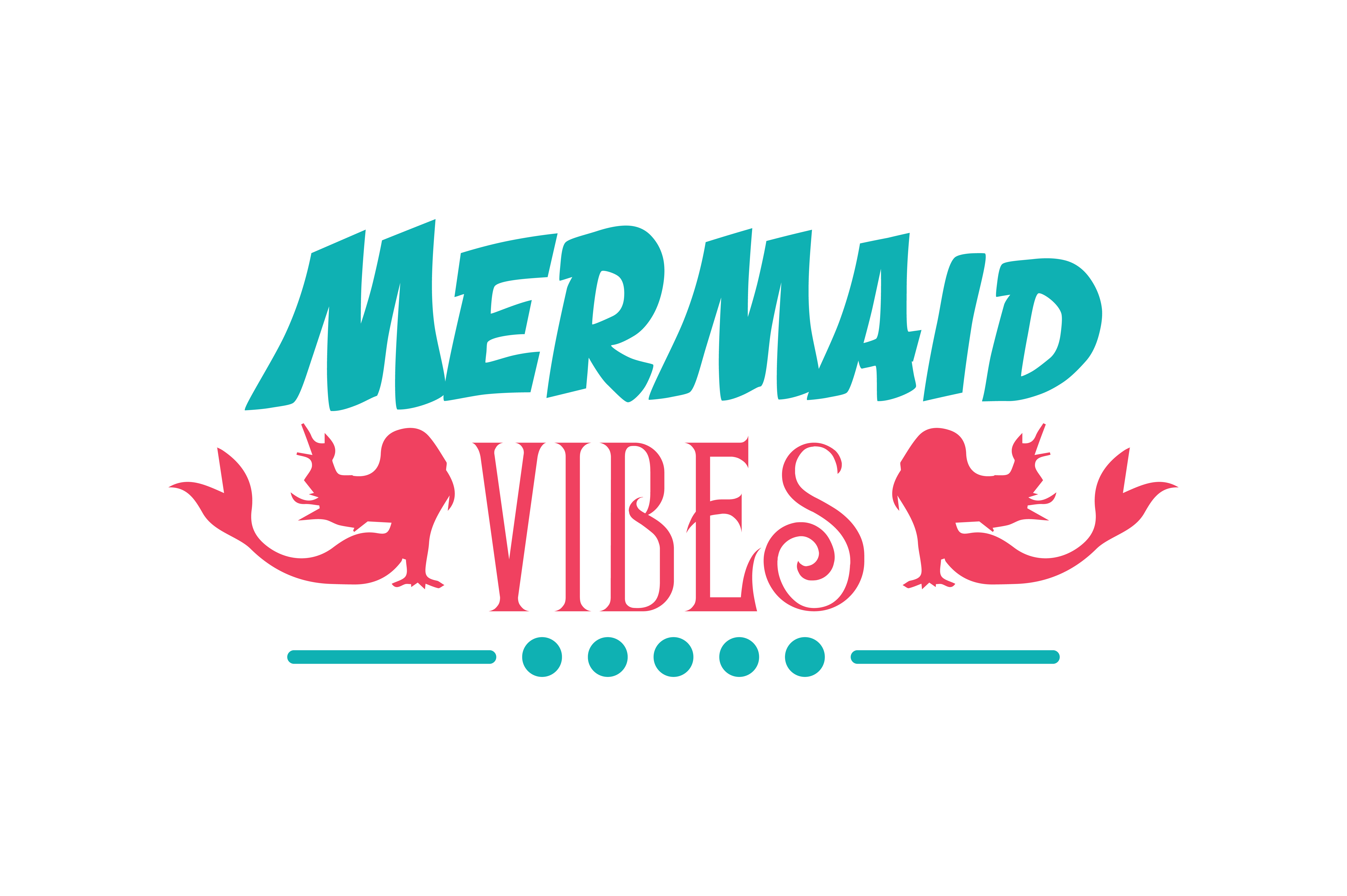 Download Free Mermaid Vibes Quote Svg Cut Graphic By Thelucky Creative Fabrica for Cricut Explore, Silhouette and other cutting machines.