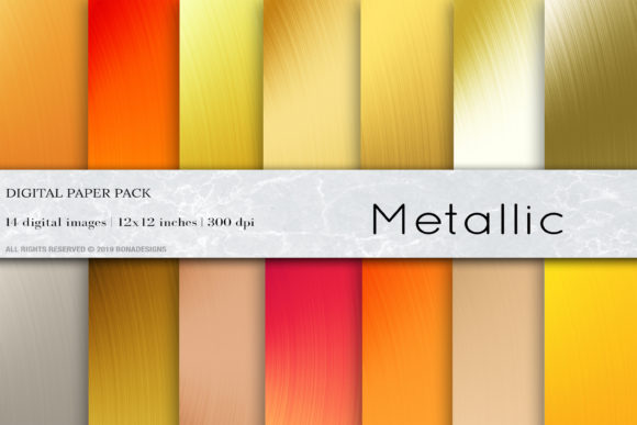 Metallic Background, Gold Background Graphic Backgrounds By BonaDesigns