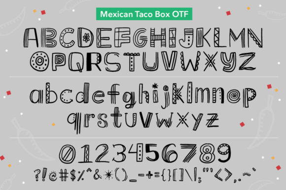 Download Free Mexican Taco Box Fuente Por Reg Silva Art Shop Creative Fabrica for Cricut Explore, Silhouette and other cutting machines.