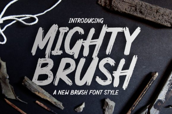Print on Demand: Mighty Brush Display Font By Garisman Studio
