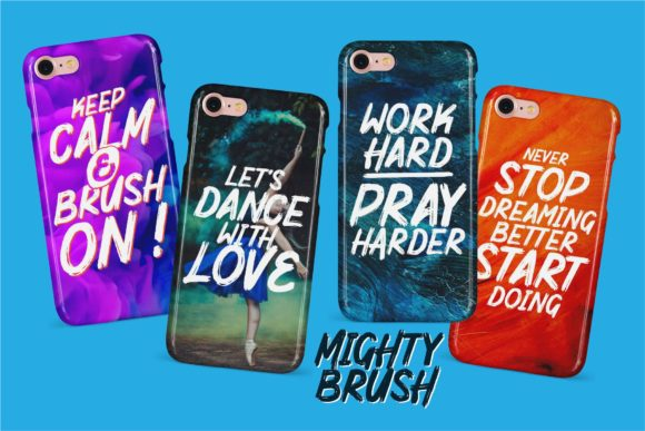 Mighty Brush Font By Garisman Studio Image 7