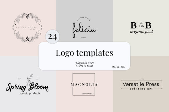 Print on Demand: Minimal Premade Logo Set Graphic Logos By Primafox Design
