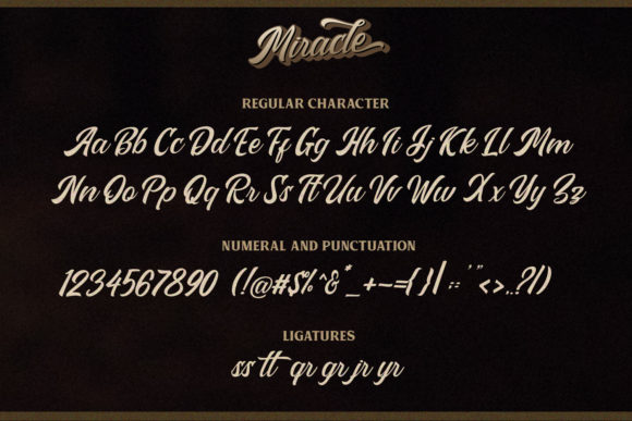 Print on Demand: Miracle Script Script & Handwritten Font By Din Studio - Image 7
