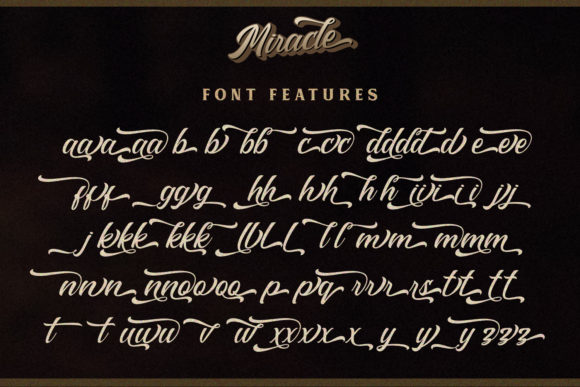 Print on Demand: Miracle Script Script & Handwritten Font By Din Studio - Image 8