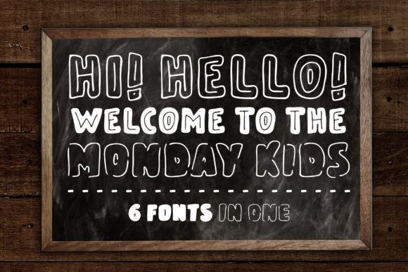 Print on Demand: Monday Kids Family Sans Serif Font By Dasagani - Image 2