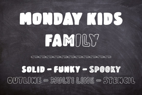 Monday Kids Family Sans Serif Font By Dasagani