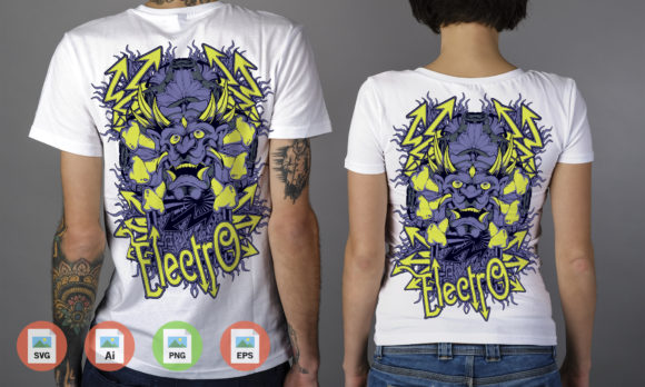 Monster Electro Graphic Illustrations By Skull and Rose