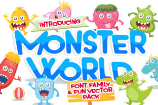 Print on Demand: Monster World Display Font By Lettersiro Co.